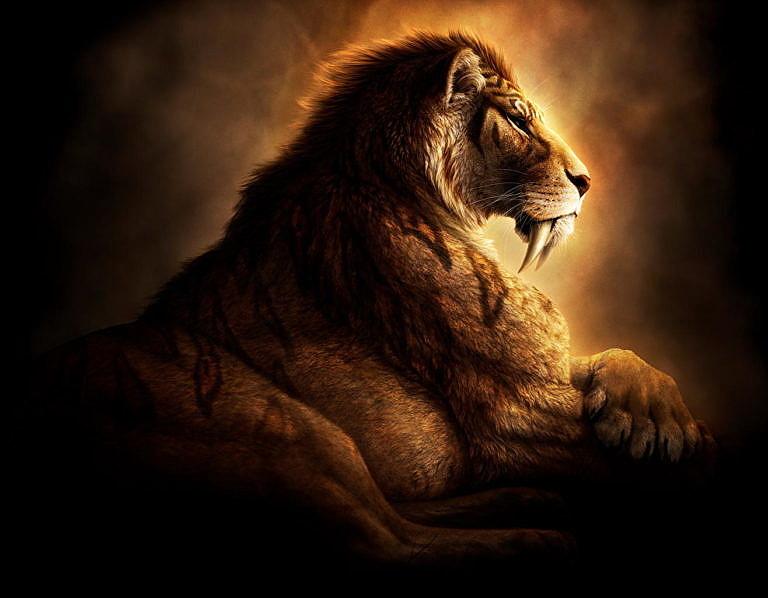 Tygr šavlozubý byl součástí americké megafauny. Později ale vyhynul.