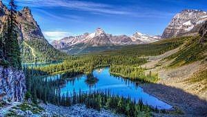 Skalisté hory, krajina.