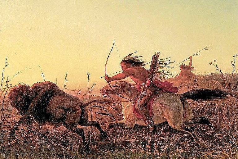 Charles Wimar, Lov bizonů.