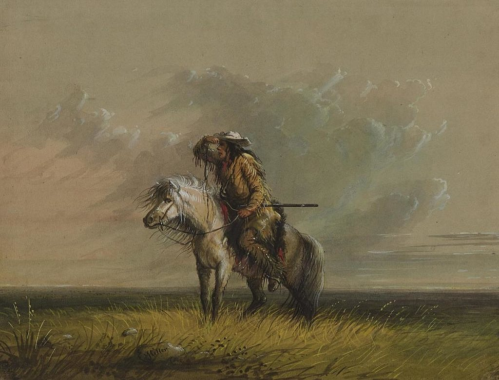 Horal na dobovém obraze AJ Millera