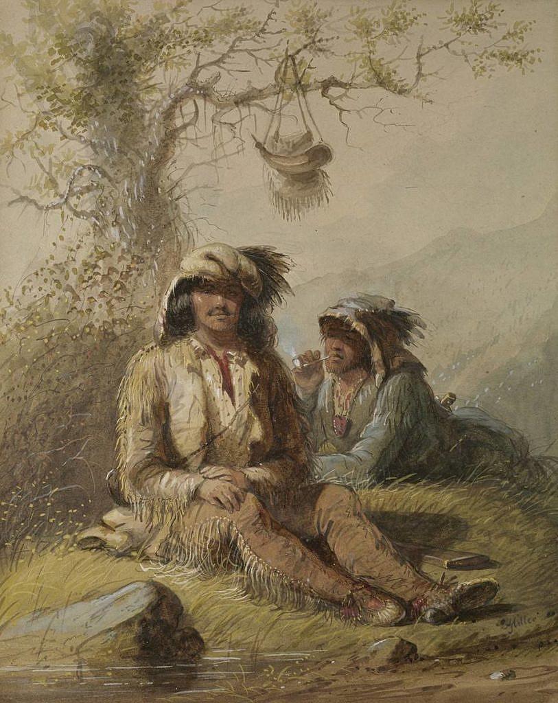 Horalové na dobovém obraze A.J. Millera.