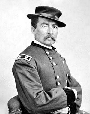 Generál Philip Sheridan na dobové fotografii.