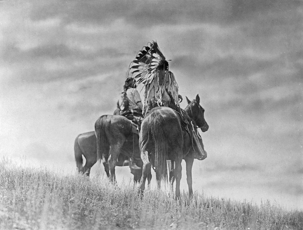 Indiáni kmene Šajen a jejich koně.