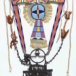 Španělsko-mexické udidlo s ozdobnými řetízky. Zbytek je výtvorem Vraních indiánů. BBHC.