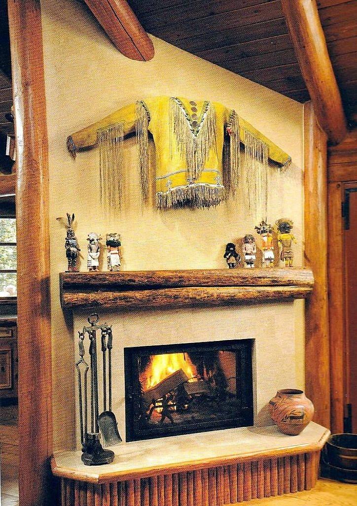 Stylový interiér s indiánskou výzdobou.