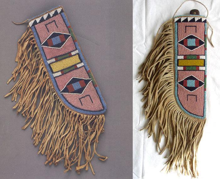 Srovnání originálu a repliky. Originální pouzdro na nůž je vlevo, vpravo je přesná kopie, vyrobená autorem článku.