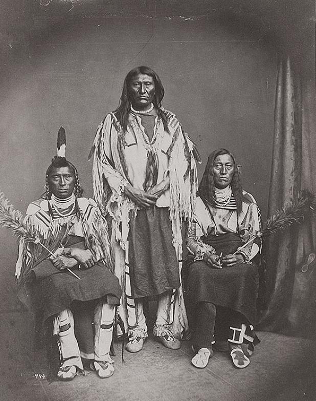 Delegace Vraních indiánů. 1873