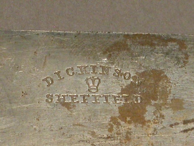 Značka Dickinson z anglického Sheffieldu.