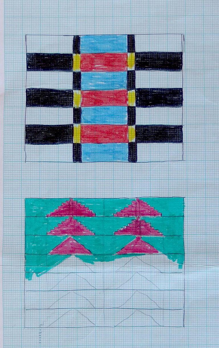Příklad použití milimetrového papíru.
