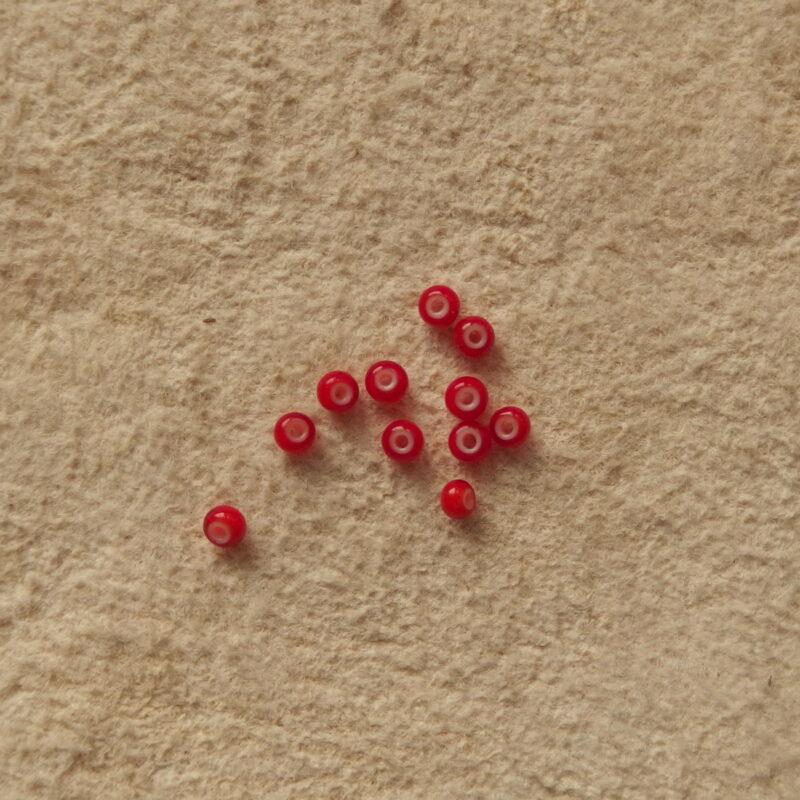Staré korálky seed beads bílá srdce