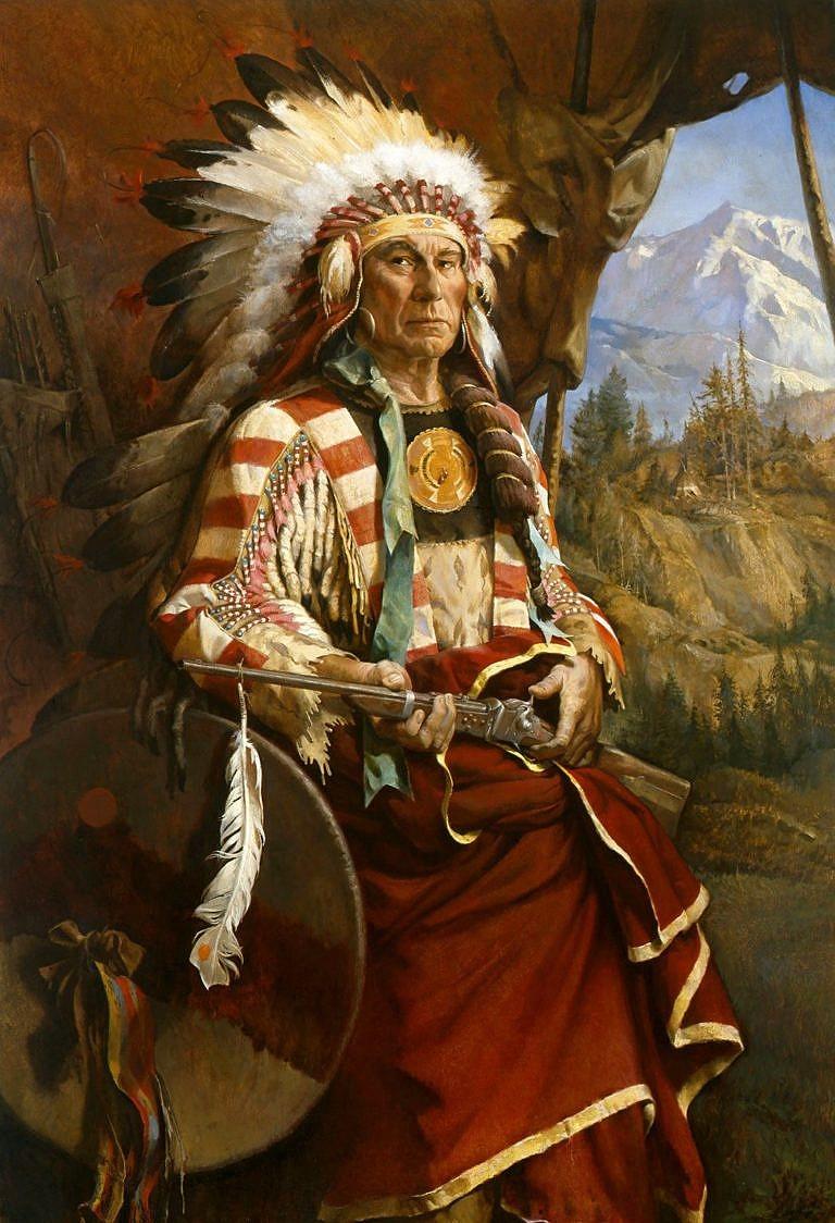 Vítězící medvěd, náčelník sičangujských Lakotů.