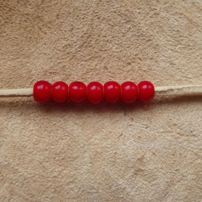"""Korálky """"crow beads"""", 7 mm, bílá srdce"""
