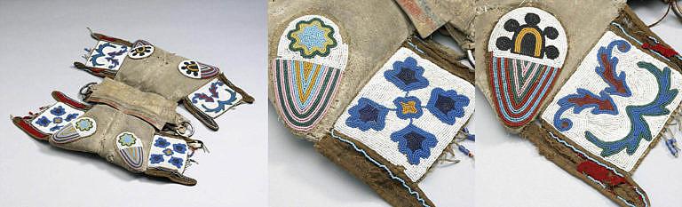 Polštářové sedlo, které patřilo lakotskému náčelníkovi Dešti ve tváří, který bojoval v bitvě na Little Bighornu. Sedlo je ale téměř jistě výrobek kmene Kríů.