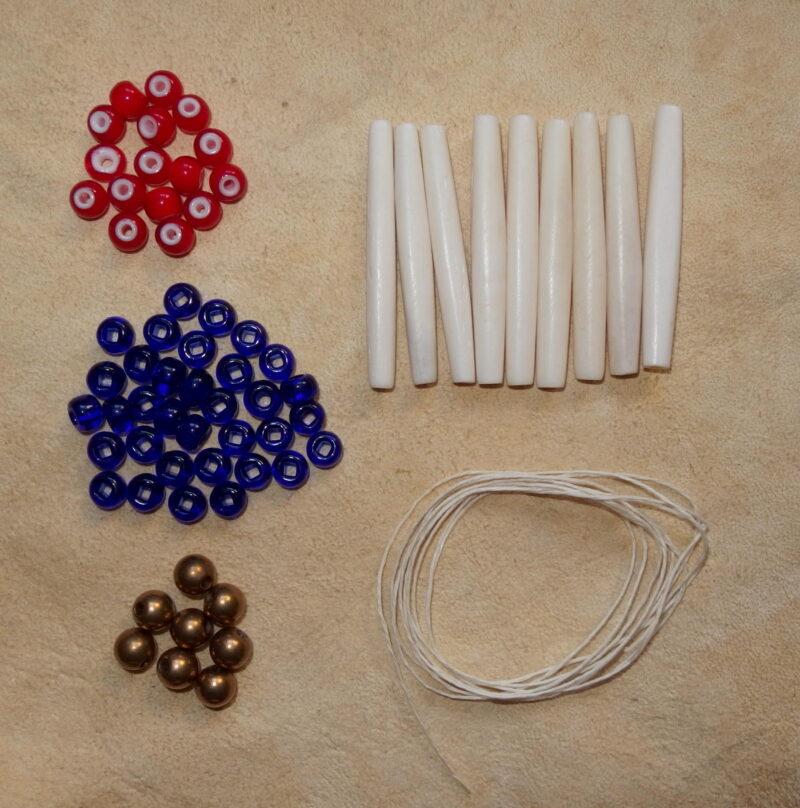 Sada na výrobu indiánského náhrdelníku z kostic