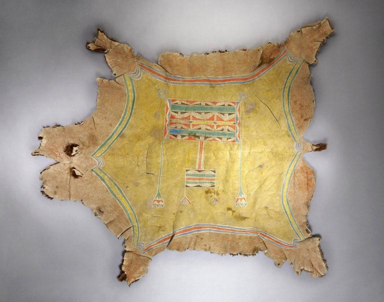 Bizoní plášť typu okraj o obdélník - jižní pláně. Pravděpodobně Jutové. Herritage auctions.