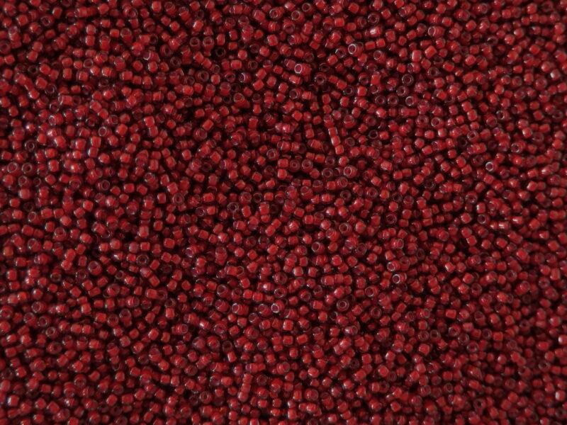 Korálky seed beads stará červená