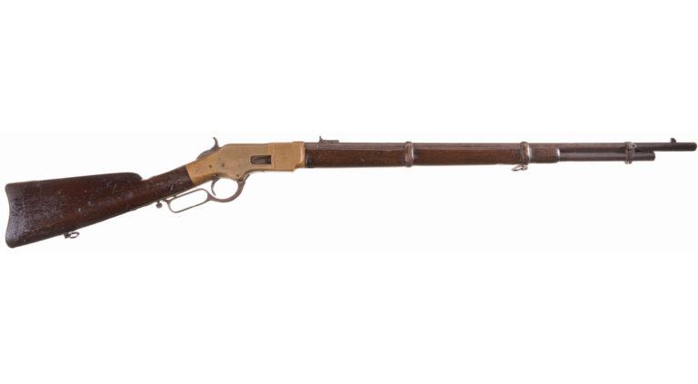 Winchster 1866 varianta Musket (mušketa), určená především pro armádu.