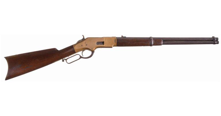 Originální puška Winchester vzor 1866, varianta karabina.