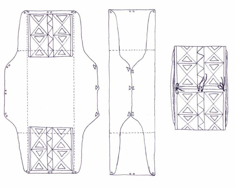 Schéma výroby parflešové obálky.