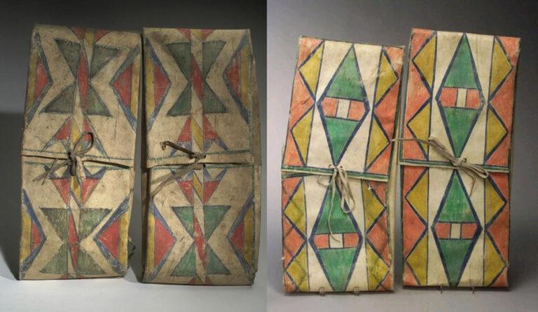 Parfleše se většinou vyrráběly v identických párech.