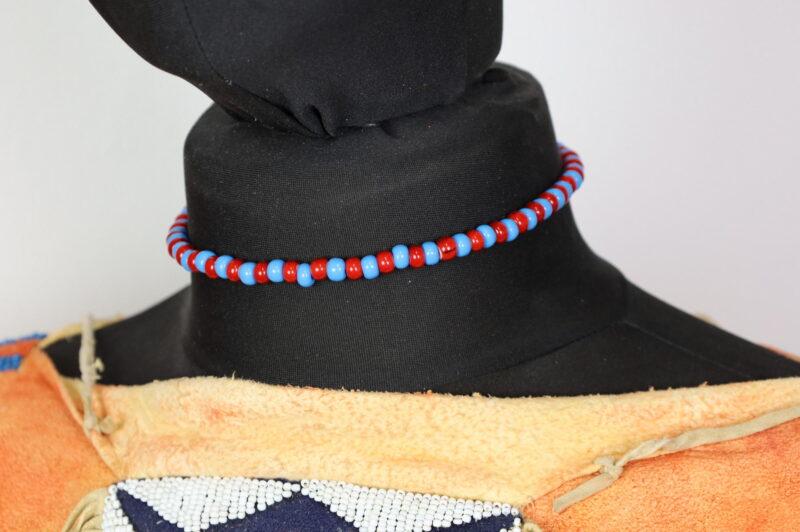 Náhrdelník indiánský jednořadý crow beads