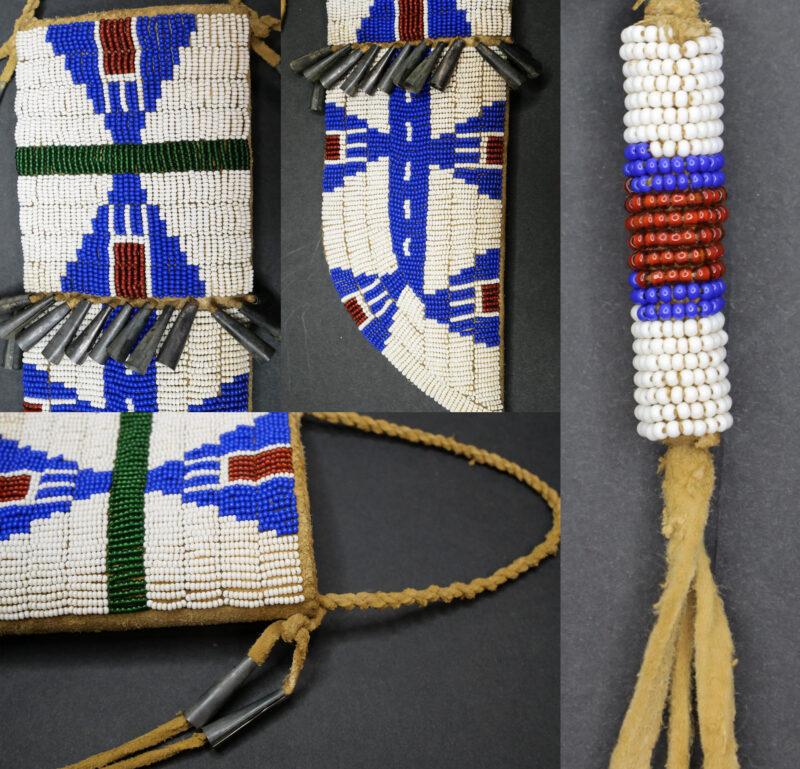 Pouzdro na nůž kmene Lakota.