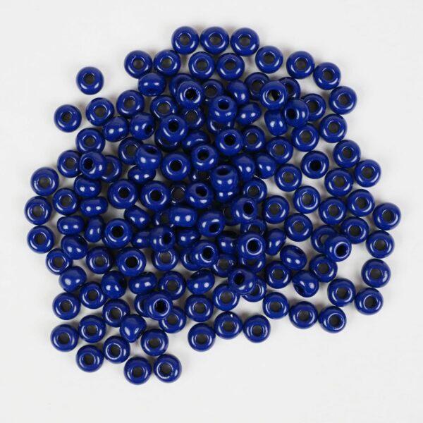 crow beads tmavě modré